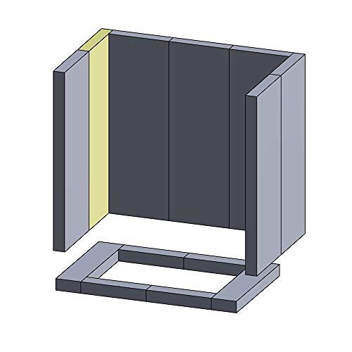 Flamado Wandstein vorne/hinten Links/rechts 310x140x30mm (Vermiculite)
