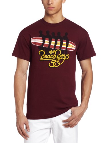 Beach Boys Surfboard Herren T-Shirt Big Maroon