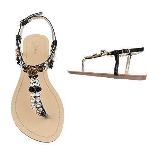 Ital-Design , Escarpins peep-toe femme Schwarz