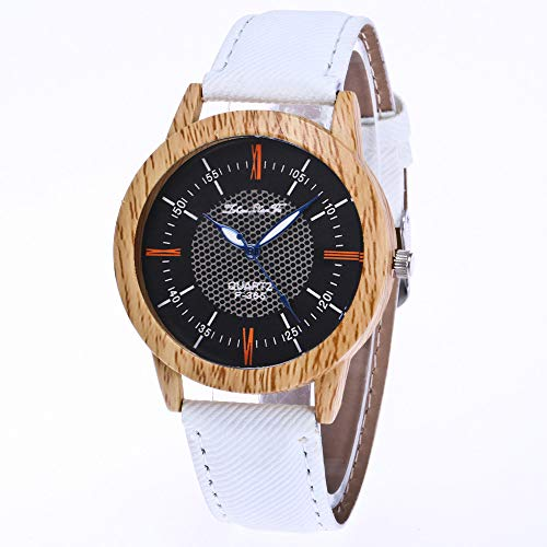 squarex Nature Holzuhr Minimalistische Uhr Bambus Denim Fashion Cool, Damen, a, AS Show