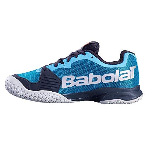 Babolat Bambini Jet Allcourt Junior Scarpe da Tennis Scarpa per Tutte Le Superfici Blu Scuro - Blu 35