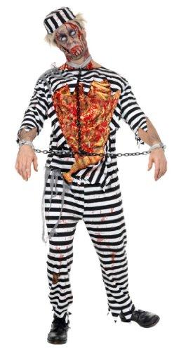 Kostüm Gefangener Zombiekostüm Zombie Halloween Ghul Untoter Gr. 48/50 (M), 52/54 (L), Größe:L (Gefangener Kostüm Shirt)