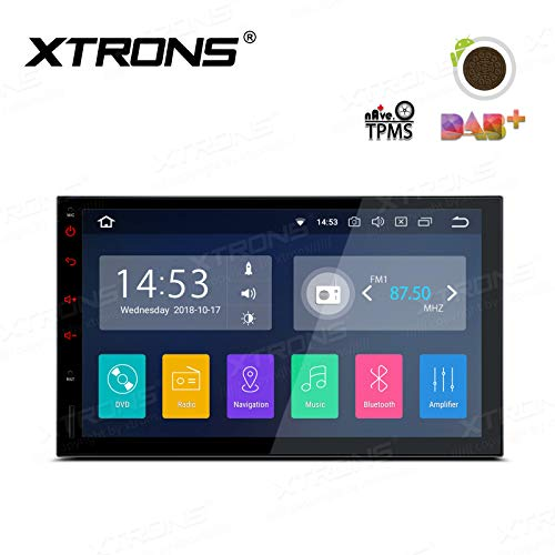 """XTRONS 7\"""" Double Din Android Autoradio mit Touchscreen Android 8.1 Quad Core 4G Mirrorlink Car Auto Play Full RCA Ausgang 2Dins 2GB RAM 16GB ROM DAB & OBD2 TPMS Funktion UNIVERSAL"""