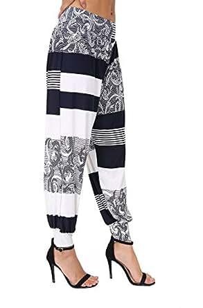ASBAHFASHION Women's Harem Trousers ALI Baba Long Pants Baggy Hareem Leggings Plus Size 8-203