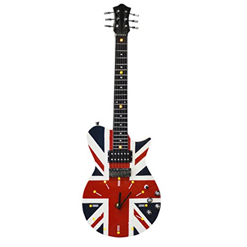 Nuevo Vintage Union Jack Guitarra LED reloj de pared (wc700)