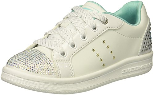 Skechers Größe Mädchen Schuhe 1 (Skechers Omne Smile Back Größe 34 Weiß (Weiß Kombi))