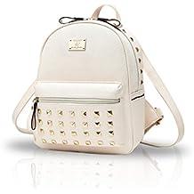 Nicole&Doris I nuovi sacchetti di scuola in pelle Donne Borse zaino da viaggio Bauletto Fashion (Zaino In Pelle Nera Borse)