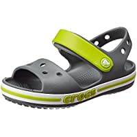 Crocs Unisex Kids' Bayaband Sandal K Leisure Flip Flops Sportwear for Children, Gray (Charcoal), 2 UK
