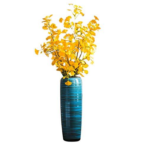 Vasen DIOE Nordische Moderne unbedeutende, keramische Jade Blue Bottle, Wohnzimmer-Schlafzimmer-Büro-Boden-Dekoration, Blumen-Anordnungs-kreative, Jingdezhen, China -