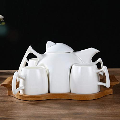 Combinaison Tasse À Café European Ceramic Creative Coffee Cup Set Simple Household Afternoon Tea Teapot Cup Set 4 Cup Assembly Tray Coffee And Tea Cups - Tray Assembly
