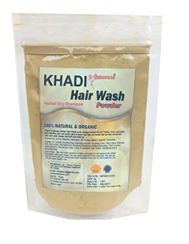 Khadi Hair Wash Powder ( Dry Shampoo) 100 gms Organic and No Chemicals