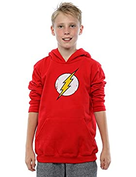 DC Comics niños Flash Distressed Logo Capucha