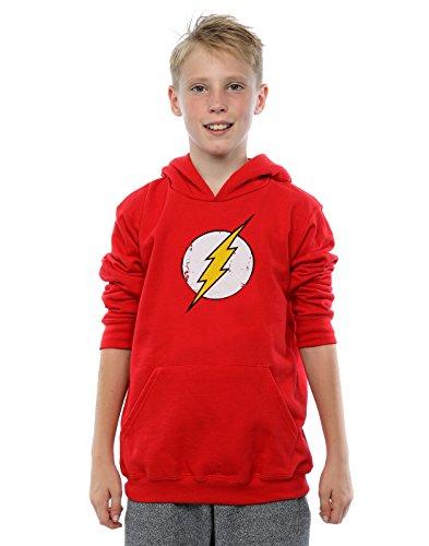 DC Comics Jungen Flash Distressed Logo Kapuzenpullover 7-8 Years (Kid Flash Hoodie)