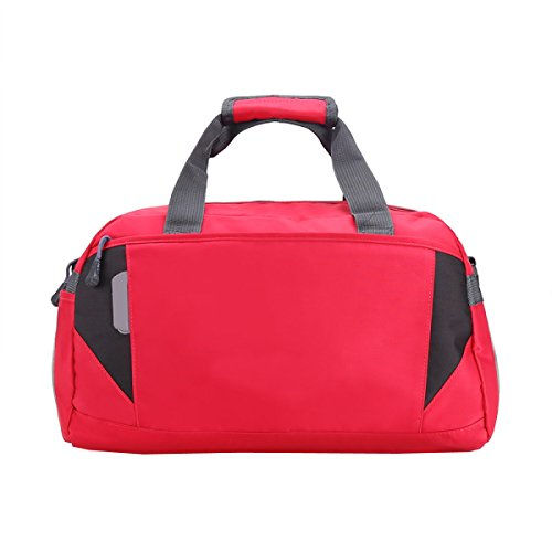 LAIDAYE Großvolumige Tragbare Gepäcktaschen Sporttasche Fitnesstasche Große Kapazität Handtasche Red