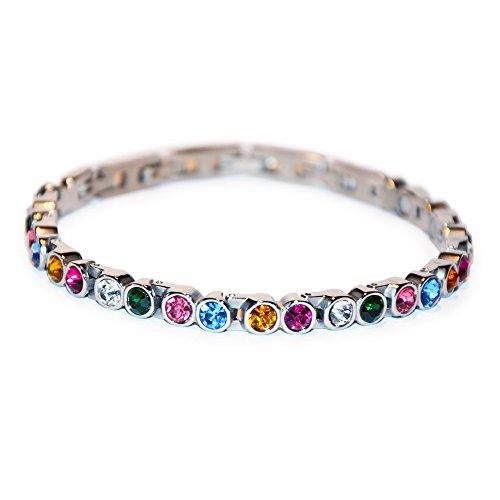 Elegantes Crystal Magnetarmband Farbenspiel mit vielen bunten Kristallen 1A Qualität Energetix 4you 448 ähnelt Magnetix 463 XS bis XXL