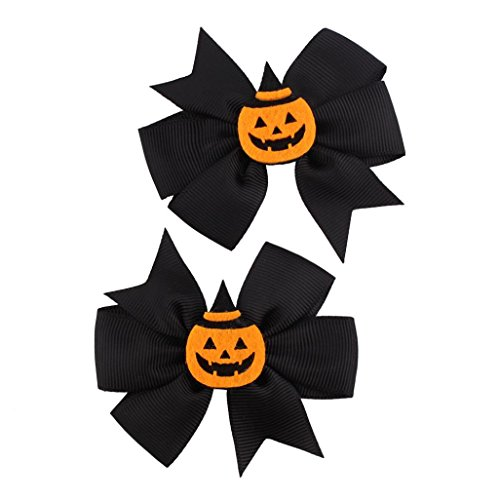 Halloween Haarnadel ZahuihuiM, Mode Niedlich Halloween Kürbis Bowknot Haarnadel Kleinkind Baby Kinder Mädchen Festival Kopfschmuck Haarspange Haarschmuck Kopfschmuck(1 Paar) (B)