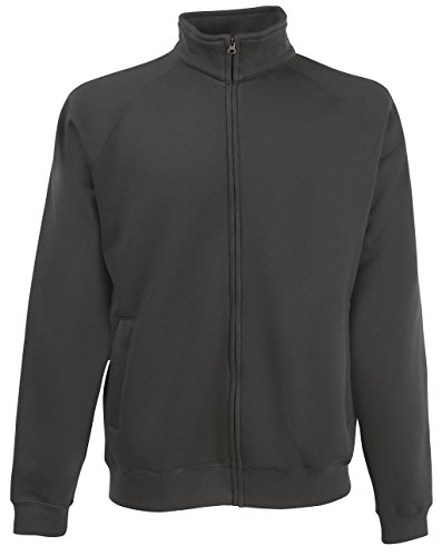 Fruit of the Loom Herren Sportjacke Premium Sweat Jacket Light Graphite