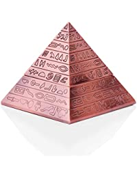 WXL Pirámide Creativa Cenicero Retro Grabado Clamshell Diseño Europeo Clásico Moda Personalidad Decoración Regalo (Color