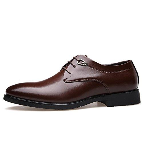 vero uomo/scarpe casual/Business casual scarpe maschile vestito/ scarpe di pelle traspirante dell'Inghilterra-B Lunghezza piede=24.8CM(9.8Inch)