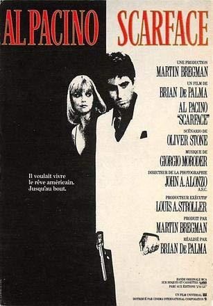 Scarface, Al Pacino Movie Poster Postcard - Scarface Movie Memorabilia