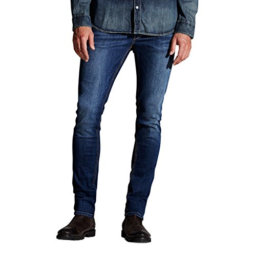 Skinny Nieten Jeans (Jack & Jones Herren Skinny Jeans Slim Fit Denim Vintage (29W / 34L, Blue Denim))
