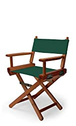 Telescope Casual Childs Director Chair, Forest Green with Walnut Frame