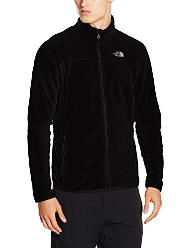 The North Face Herren Fleecejacke 100 Glacier, schwarz (tnf black), 48 (Herstellergröße: Large)