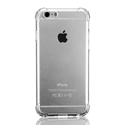 iphone Case TPU Coque Transparente de Protection[Sans Encombrement Douce] pour Apple iPhone 6 6s 4.7 inch Gel Silicone ÉTUIS HOUSSE Protecteur Crystal Claire Coussin d'air Pour iPhone 6 (2014) / 6s (2 Coussin Transparente