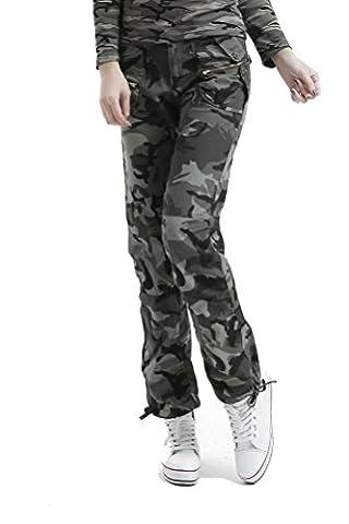 Voguehive - Pantalon de sport - Droit - Tie-Dye - Femme - Vert - W29