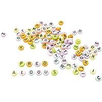 Creativity International - Cuentas con letras del abecedario (400 unidades), colores pastel
