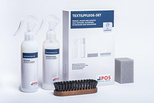 Braun Mikrofaser Stoff (POS Textilpflege-Set Professionell für alle Stoffbezüge)