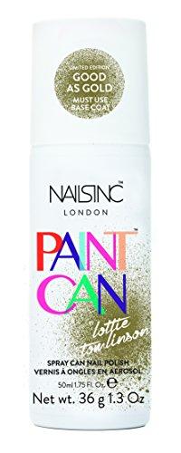 Nails Inc Paint Can, bomboletta di smalto per unghie, colore: oro Good as Gold