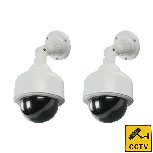 BW Outdoor Dummy Camera,New Housing Dummy Security Camera,Package 2 pcs LED Wireless IR Surveillance Dummy Security…