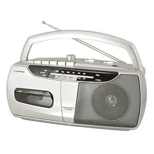 Lloytron N8101SV Classique2 Band AC/DC Portable Radio Cassette Recorder