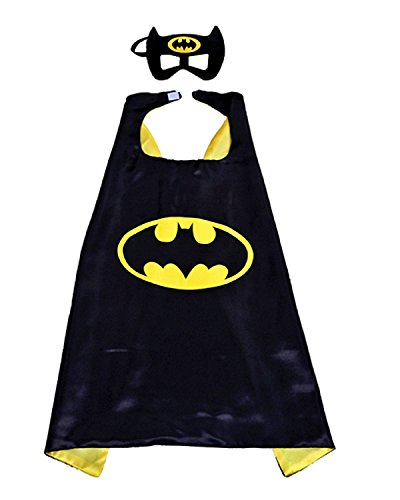 3-6 ans - Costume Set - Mascarade - Carnaval - Halloween - chauve-souris homme - Super Héros - Couleur noire - Masque - Cape - Enfant - Batma