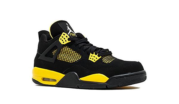 air jordan 4 retro noir jaune