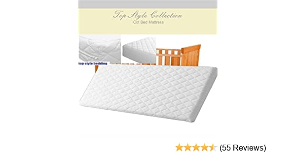 Baby Cot Bed Mattress 140cm x 70cm x 10cm Quilted Non Allergenic Made in the UK