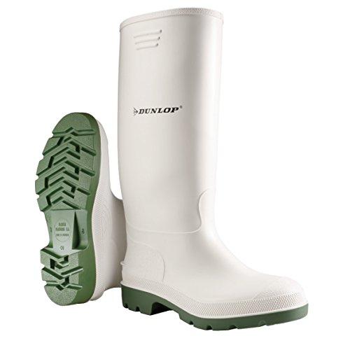 Dunlop Herren Stiefel, Weiß/Grün, 46 EU (Stiefel Herren Weiß)