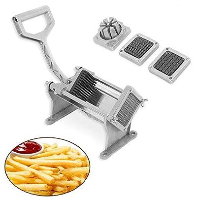 Yosoo Machine de découpe de pommes de terre en Acier inox Machine de coupe de frites Coupeuse de légumes multifonction