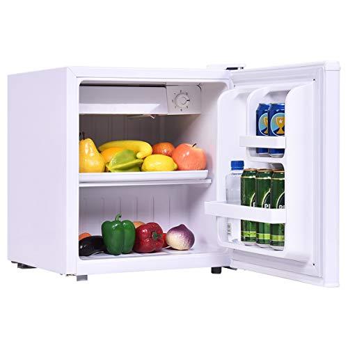 COSTWAY Mini Frigo Mini Réfrigérateur avec Congélateur 1 Etagère Consommation d'Énergie Capacité de 48 L Énergétique A + (Blanc)