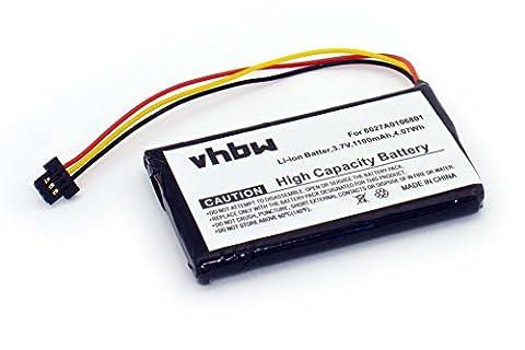 Batterie Li-Ion 1100mAh pour GPS TomTom XL IQ, V3, 4EM0.001.01, remplace le modèle 6027A0093901
