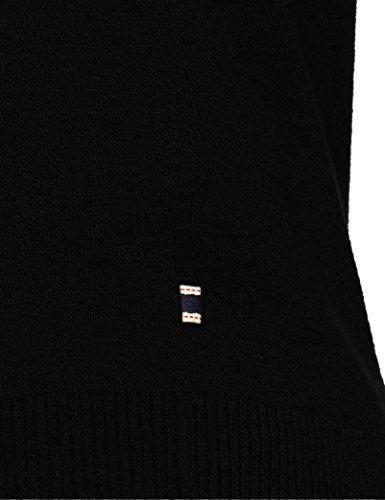 JACK & JONES Herren Pullover Jjebasic Knit V-Neck Noos, Schwarz (Black Black), Large - 3
