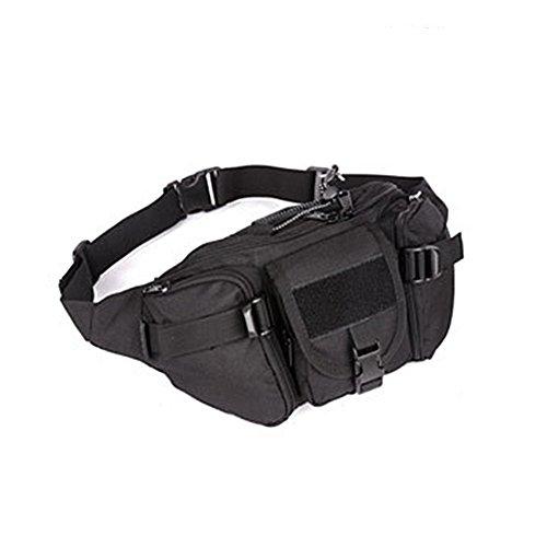 YAAGLE Armee Fans Outdoor Herren militärisch Brustbeutel wasserdicht Freizeit Hüfttasche Kuriertasche Reisetasche Fahrradrucksack Schultertasche -schwarz