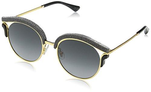 Jimmy Choo Damen LASH/S 9O 1R8 53 Sonnenbrille, Gold (Goldbk Glitter/Dark Grey Sf),