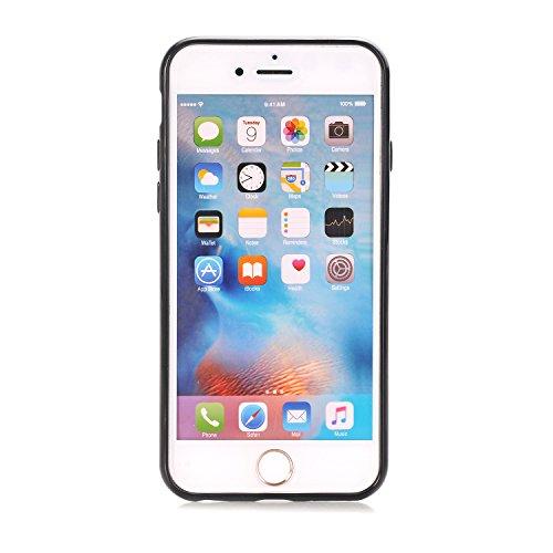 iPhone 6/6S 4.7 Hülle, Voguecase Multifunktions-Abdeckung mit drehbarem Ring Halter Ständer für magnetischen Auto Mount Halter, Kickstand Case Schutzhülle / Case / Cover / Hülle / TPU Gel Skin für App Schwarz