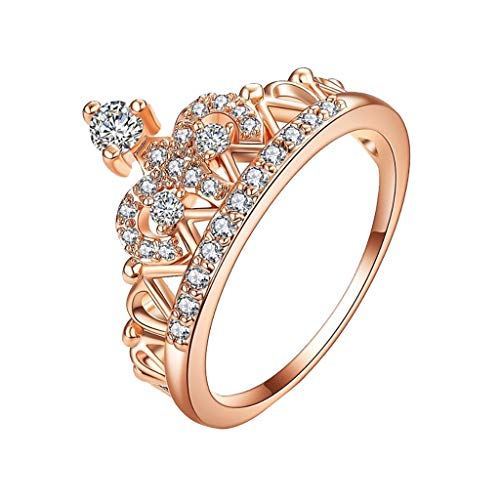 UINGKID Schmuck Damen Ring Edle Rose Krone Diamant Ring Damen Schmuck Schmuck -