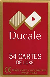 France cartes - 400142 - Jeu de Cartes - 54 cartes Ducale en étui carton - Modèle aléatoire- Mention aléatoire