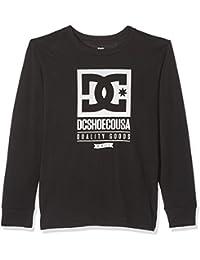 DC Shoes Keep Rolling LS Boy Camiseta de Manga Larga, niños, Negro (Anthracite Solid), 12/M