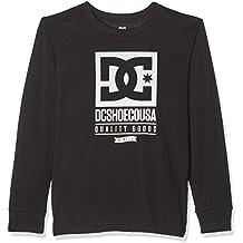 DC Shoes Keep Rolling Ls Boy Camiseta de Manga Larga, Niños, Negro (Anthracite Solid), 16/XL