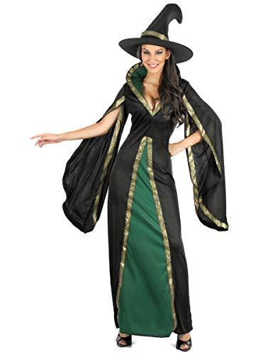 Generique - Costume da Strega Nera e Verde per Donna LCostume da Strega Nera e Verde per Donna L